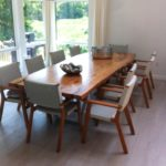 Elm Table at Home in New York Jewell Hardwoods Finished