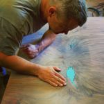 Tim-inspecting-turquoise