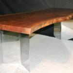 Weeds Black Walnut Slab Table Jewell Hardwoods Finished