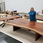 Giant Live Edge Black Walnut Conference Table Jewell Hardwoods