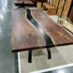 Black Walnut and Steel The Merge Table Jewell Hardwoods