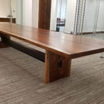 Black Walnut Conference Table Steel I Beam Base Jewell Hardwoods