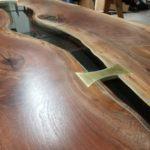 Black Walnut Bridges Table Brass Bowtie Jewell Hardwoods