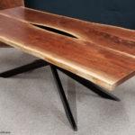 Black Walnut Flip Match Custom Glass Jewell Hardwoods