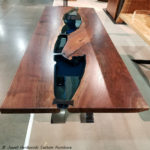Walnut Bridges Blue Glass Ebony Bowties Jewell Hardwoods