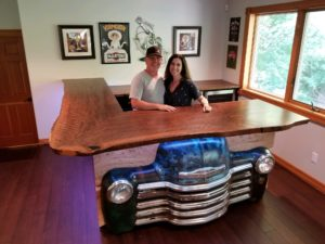 Custom Bar Walnut Chevy Truck