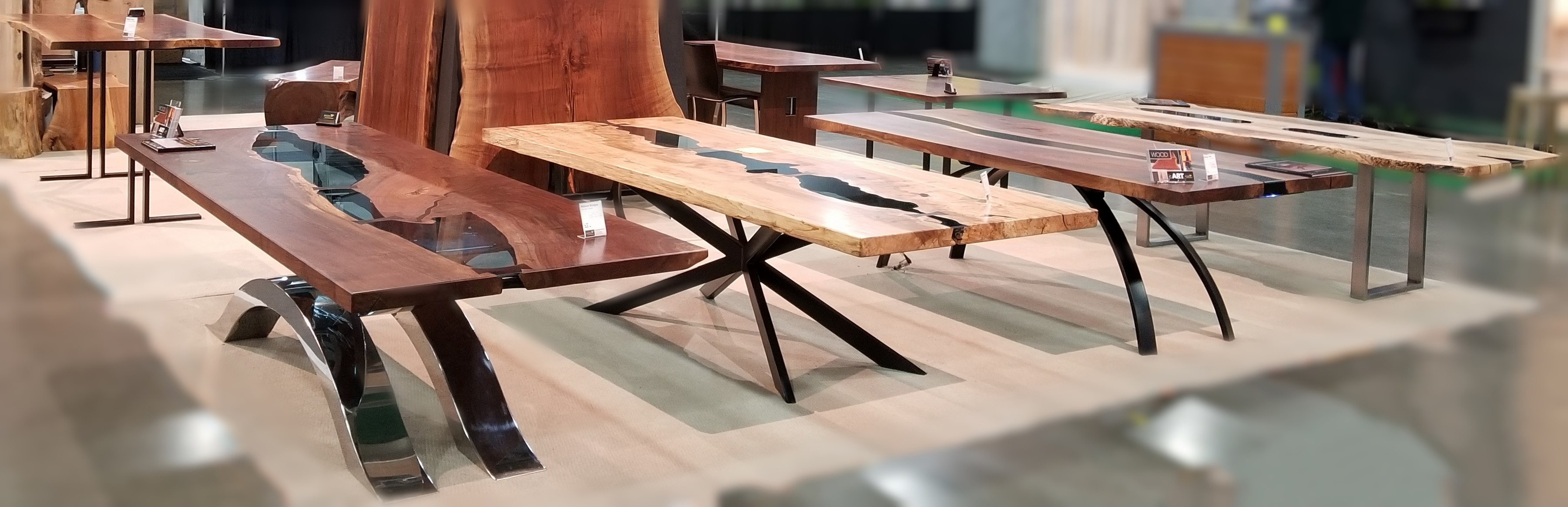 Jewell Hardwoods Custom Table Base Display