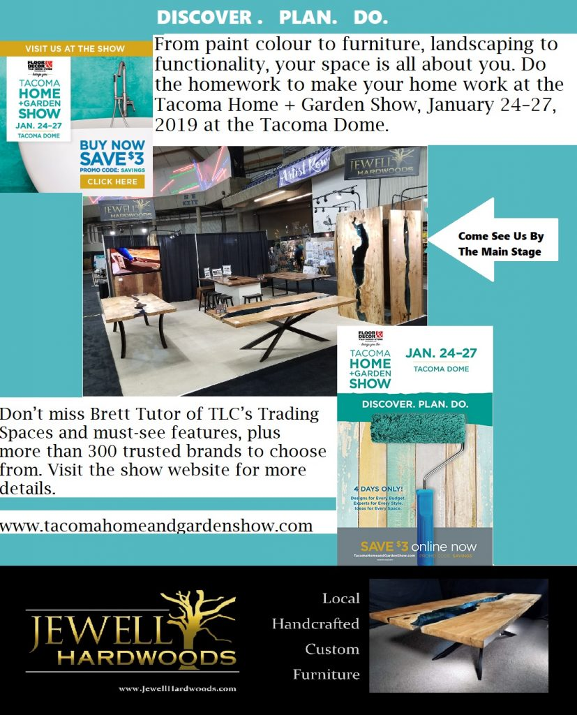 Jewell Hardwoods Featured at the Tacoma Home and Garden Show January 24-27 2019