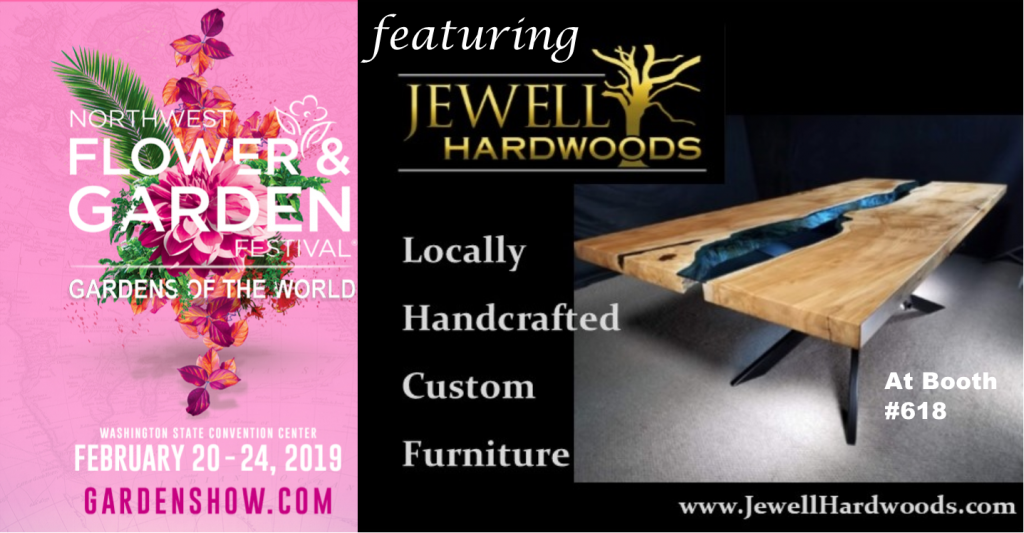 NW Flower and Garden Festival Featuring Jewell Hardwoods Feb 20-24 2019 Seattle Washington