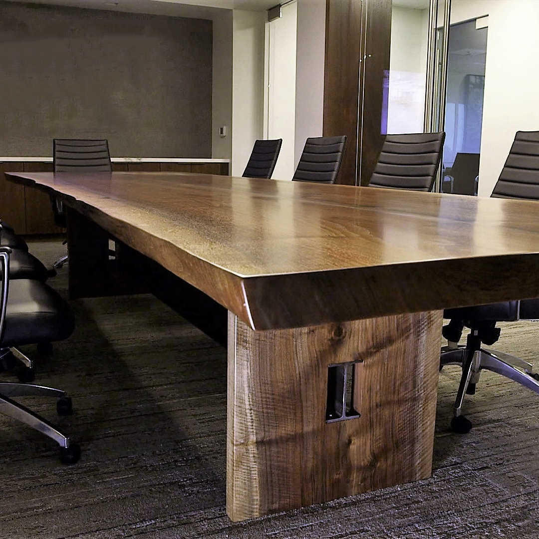 Live Edge Black Walnut Conference Table Jewell Hardwoods