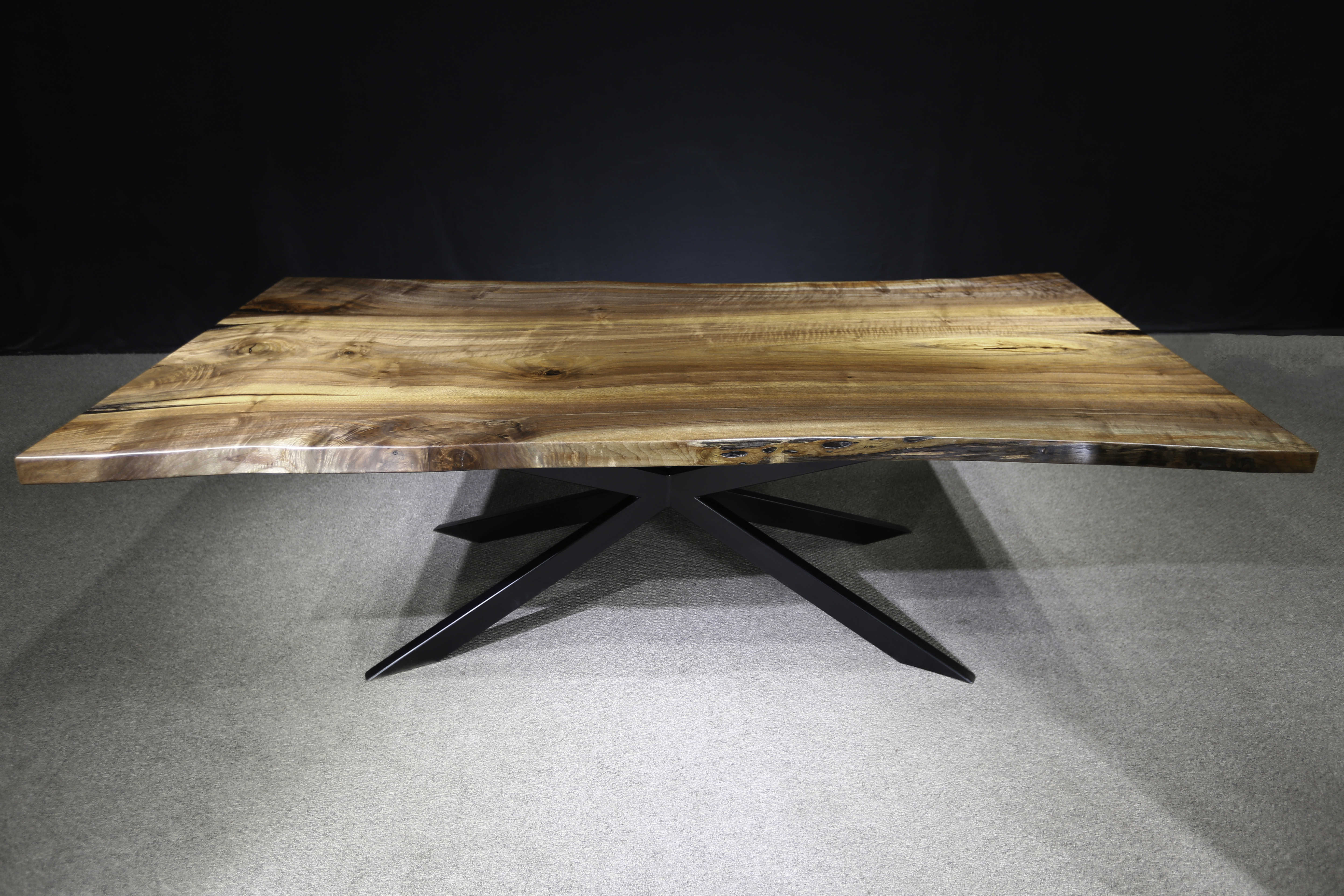Live Edge Black Walnut Table Single Slab Jewell Hardwoods.