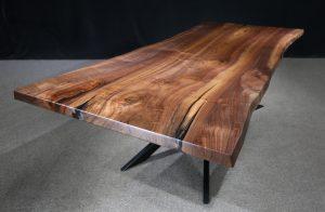 Live Edge Black Walnut Table Single Slab Jewell Hardwoods.final