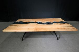 Columbia Gorge Collection Maple Table 119 Jewell Hardwoods River Table.2