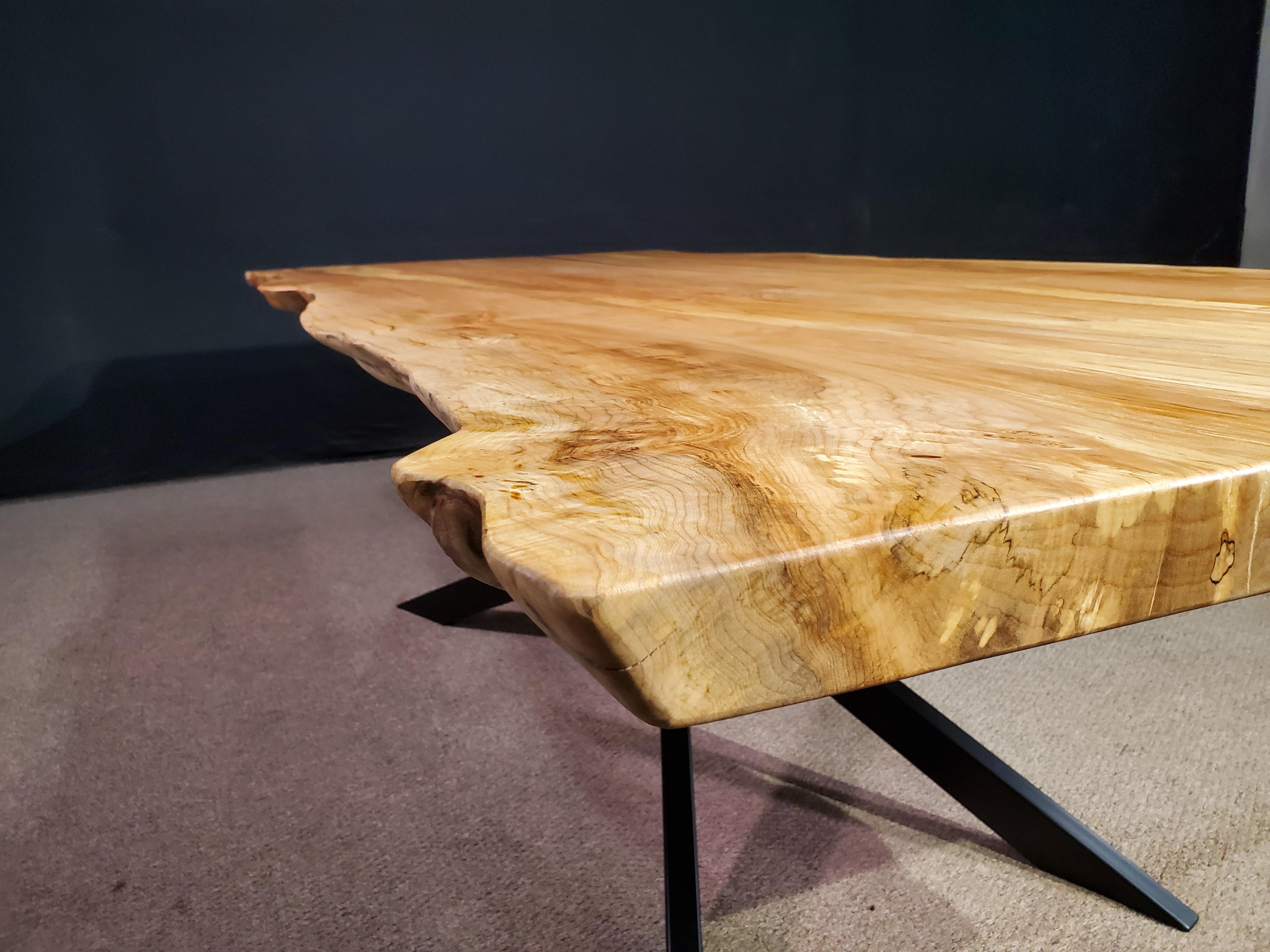 Live Edge Maple Table Jewell Hardwoods