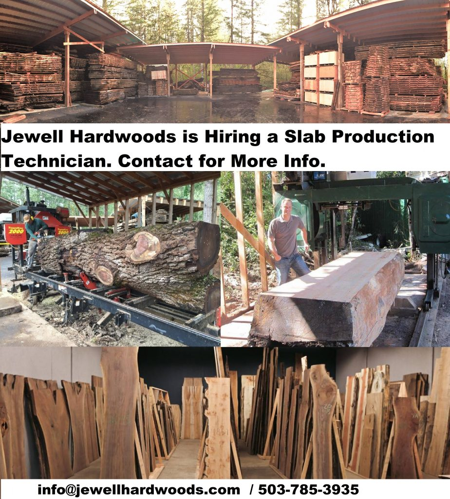 Job Ad for Jewell Hardwoods Slab Production Technician