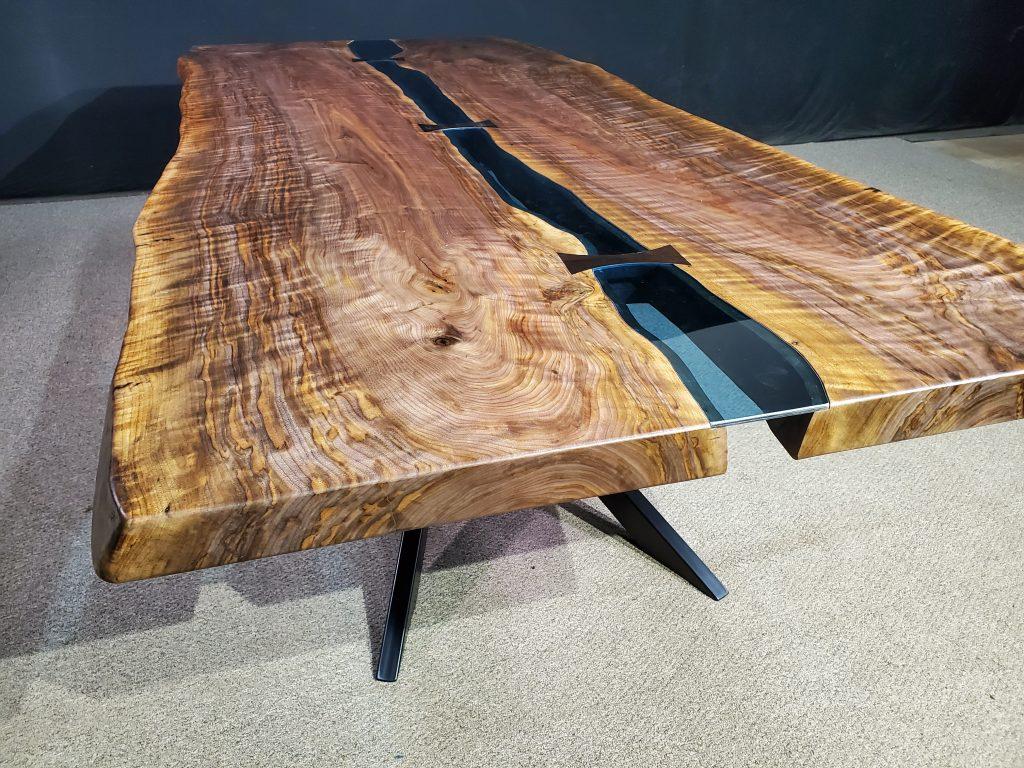 Live Edge Black Walnut Bridges Table Collection Jewell Hardwoods