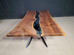 Live Edge Black Walnut Columbia Gorge River Table Collection Jewell Hardwoods