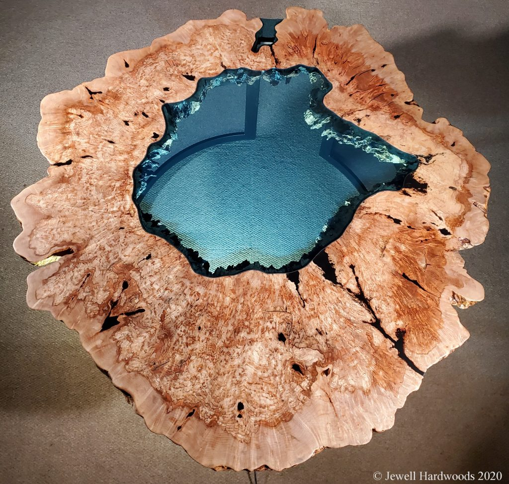 Maple Burl Crater Lake Table Collection Jewell Hardwoods