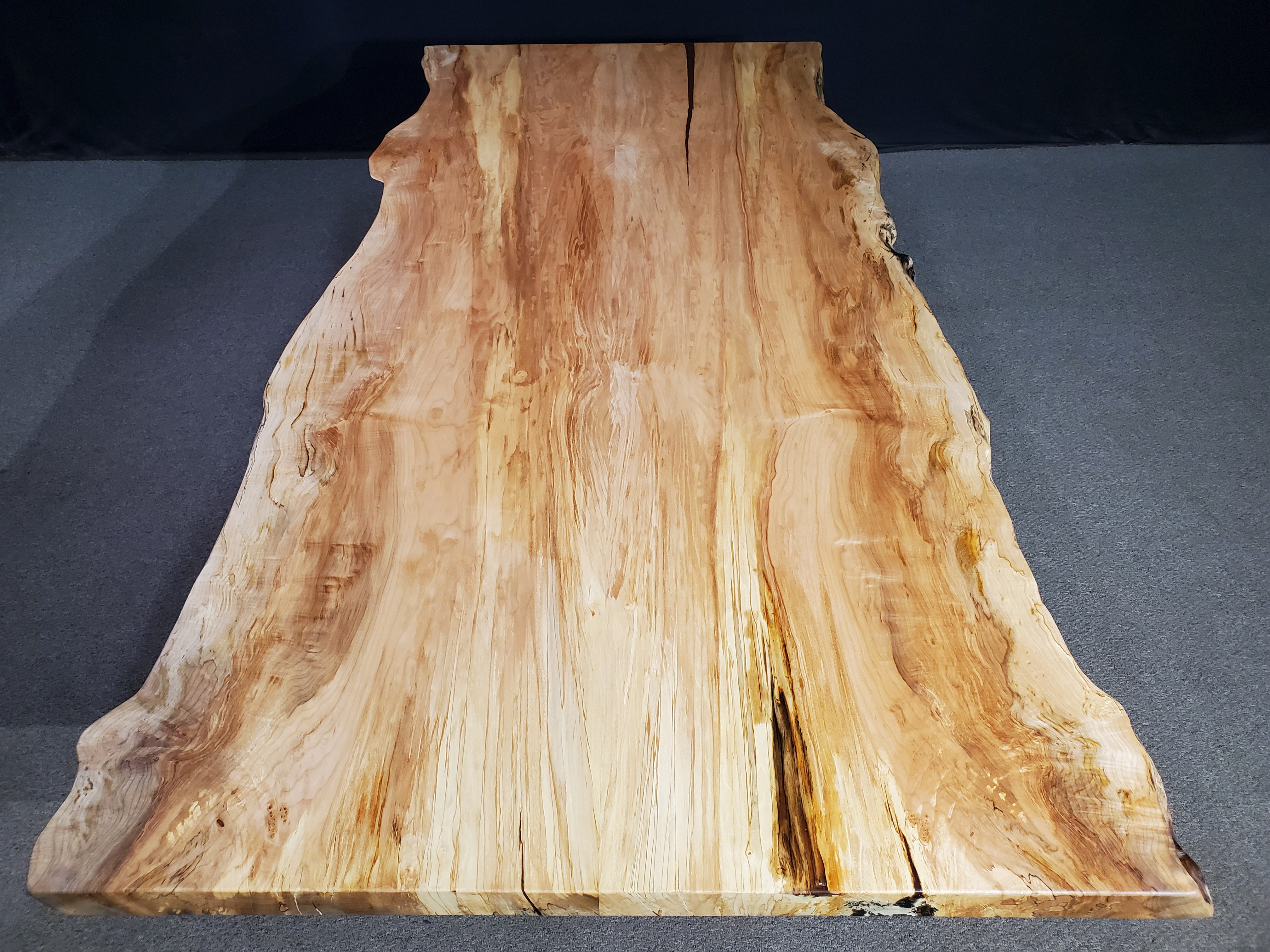 Live Edge Maple Bookmatch Table Jewell Hardwoods