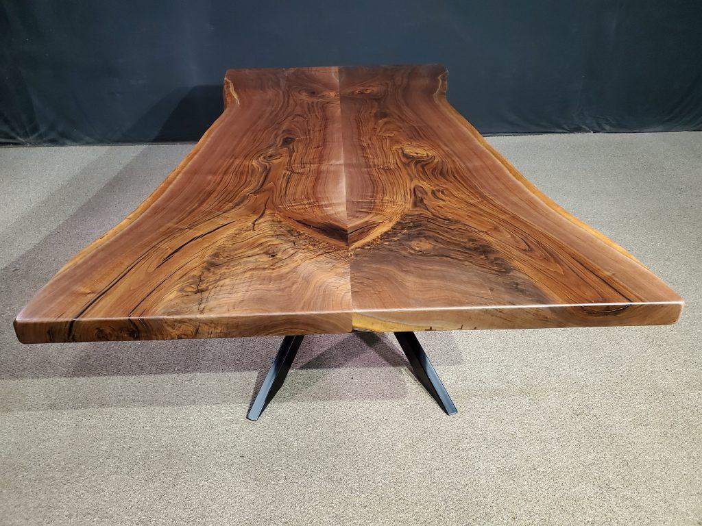 Live Edge Black Walnut Bookmatch Table Jewell Hardwoods
