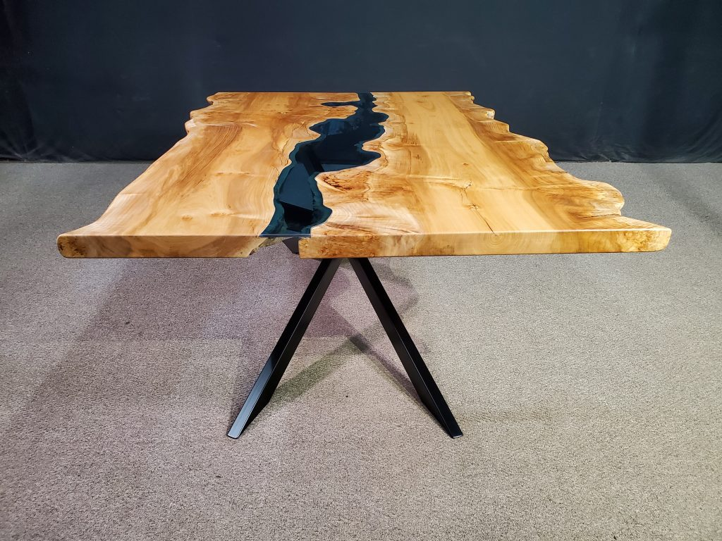 Live Edge Maple Burl Columbia Gorge River Table Jewell Hardwoods