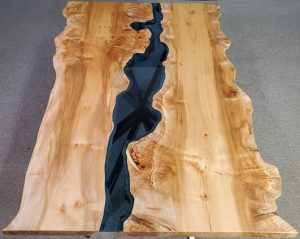 Live Edge Maple Burl Columbia Gorge River Table Jewell Hardwoods