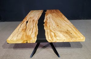 Spalted Maple Merge Collection Table Black Epoxy Jewell Hardwoods