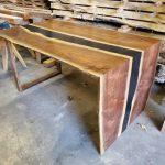 Black Walnut Waterfall Merge Desk