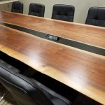 Curtis Trailers Black Walnut Merge Conference table....