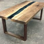 DragonFire Gallery Columbia Gorge English Walnut Coffee Table Wood Valor Base