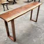 DragonFire Gallery Walnut Console Table Wood Valor Base