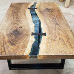 English Walnut Bridges Coffee Table Slab 2577