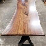 Jewell Hardwoods Custom Table for Kaiser Grille Palm Springs.
