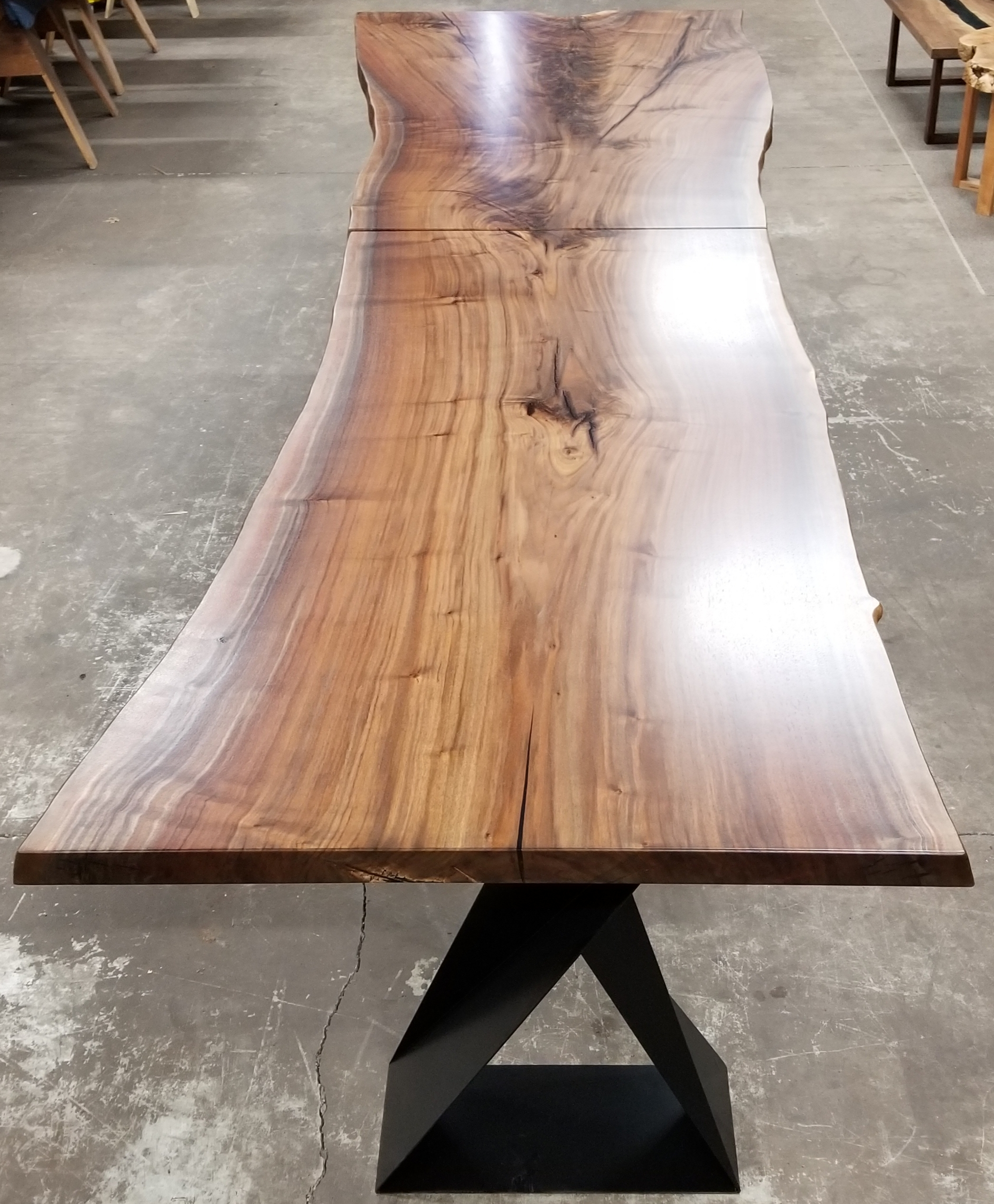 Jewell Hardwoods Custom Table for Kaiser Grille Palm Springs.