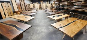Jewell Hardwoods Custom Furniture Showroom Premium Hardwood Slabs