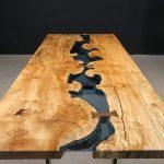 Maple Burl Walnut Bridges Blue Glass Jewell Hardwoods