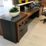One Main Place Receiption Desk Commercial Jewell Hardwoods