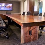 PacTrust Walnut Conference Table IBeam Base