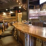 Ponderosa Lounge and Grill Jewell Hardwoods Live Edge Maple Bartop