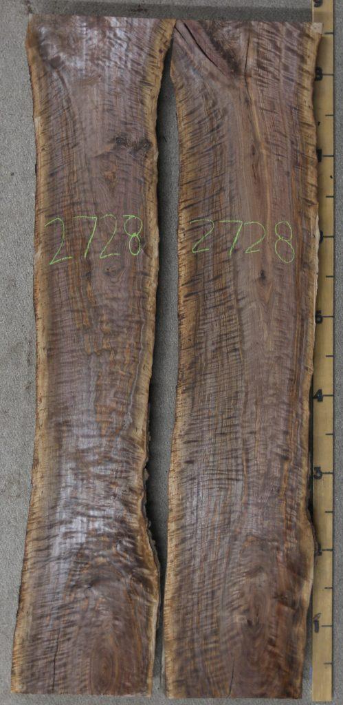 Curly Black Walnut River Table Slab Set Jewell Hardwoods