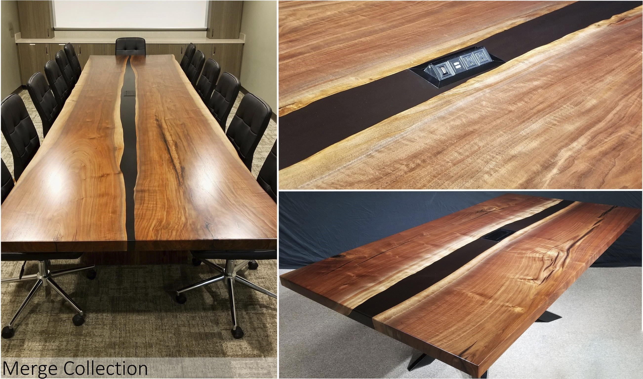 Merge Collection Conference Table Epoxy River Table Jewell Hardwoods
