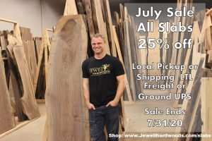 Live Edge Slab Sale 25% off Jewell Hardwoods