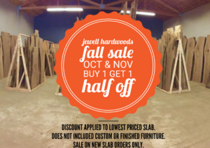 Live Edge Slab Sale Buy 1 Get 1 Half Off Jewell Hardwoods