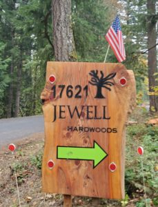 Jewell Hardwoods Street Sign