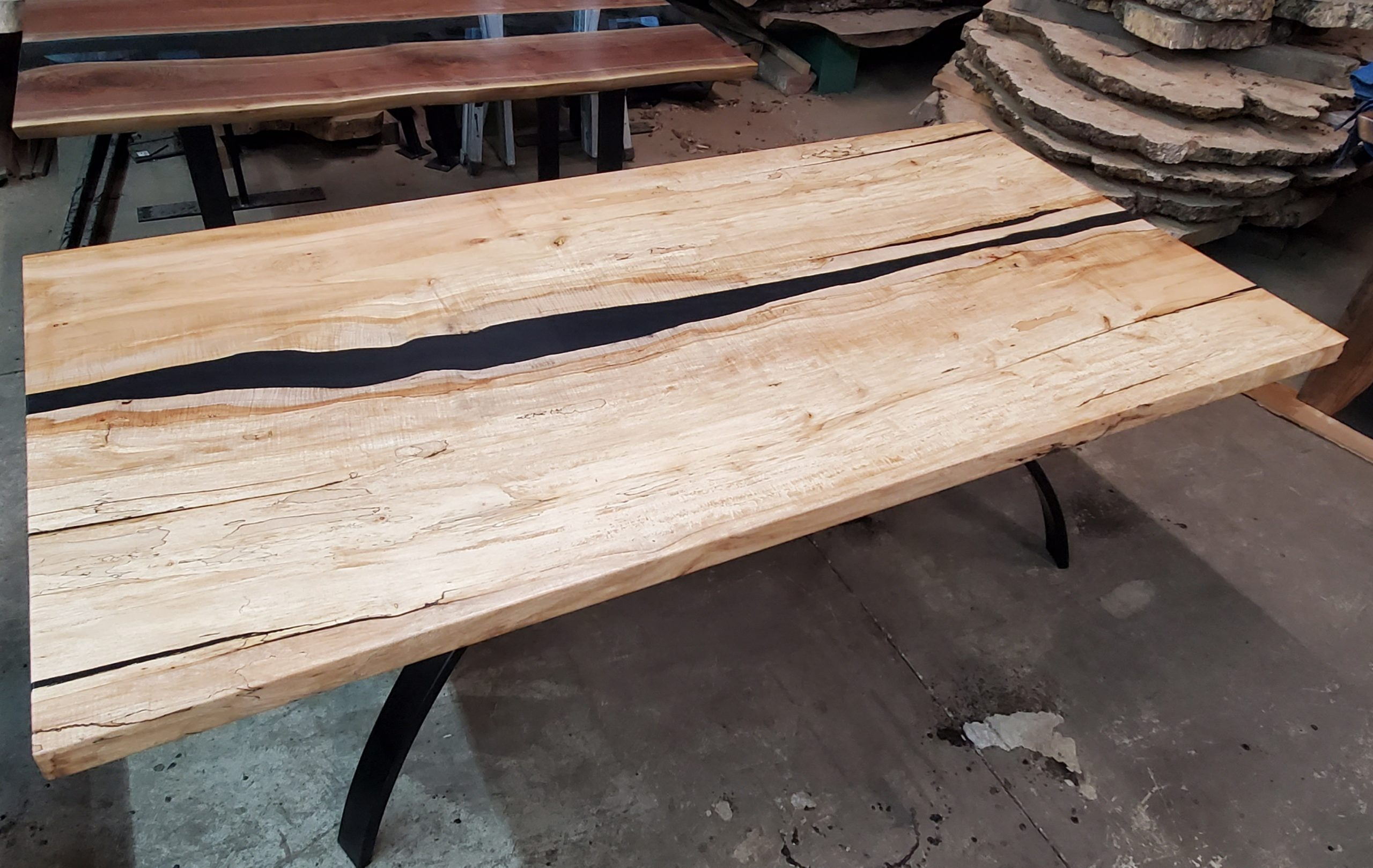 Spalted Maple Merge River Table