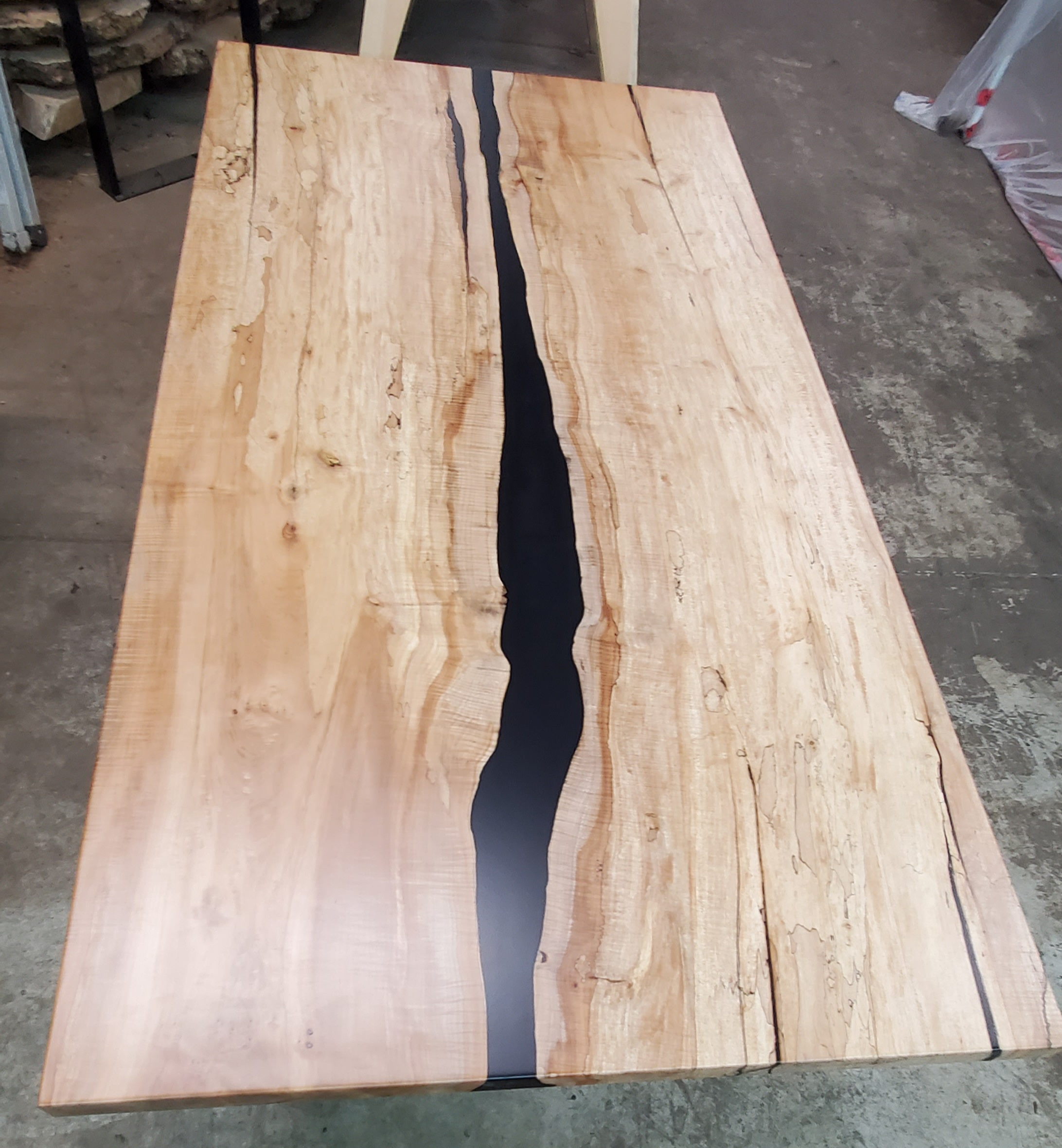 Spalted Maple Merge Riber Table