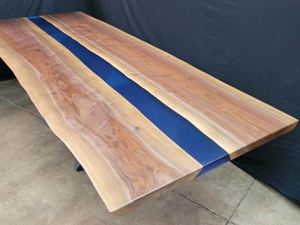 Jewell Hardwoods Epoxy River Table Blue Superclear Epoxy
