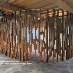Artistic Modern Reclaimed Fir Privacy Wall