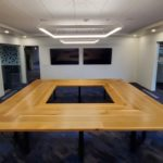 Dynalectric Square Oak Table