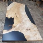 Fringe Collection Table Maple Black Epoxy